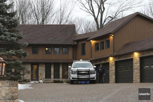 La résidence privée de l'homme d'affaires Gaétan Dion... (Christophe Boisseau-Dion, La Voix de l'Est)