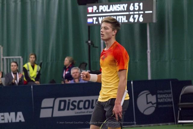Tim Van Rijthoven l'a emporté contre Peter Polansky.... (Collaboration spéciale, Jean-Samuel Gauthier)