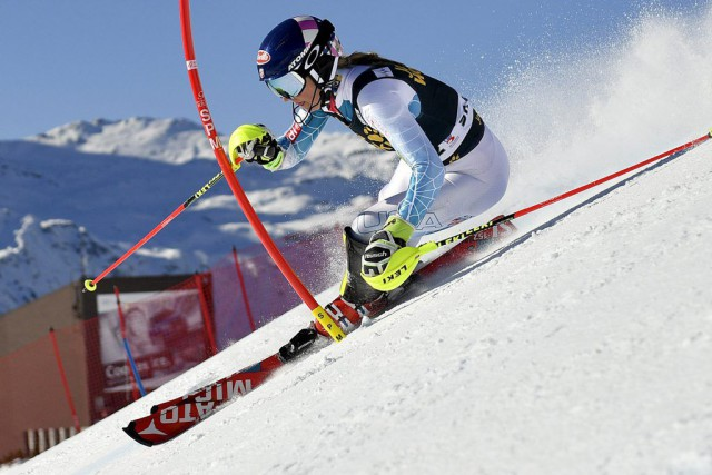 Mikaela Shiffrin... (PHOTO GIAN EHRENZELLER, AP)