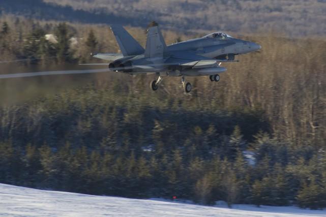 Les deux CF-18 seront à Valcartier.... (Photo courtoisie, Caporal Jean-Roch Chabot)