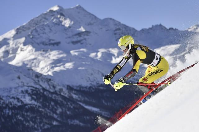Malgré son top 10, Marie-Michèle Gagnon n'était pas... (AFP, Fabrice Coffrini)