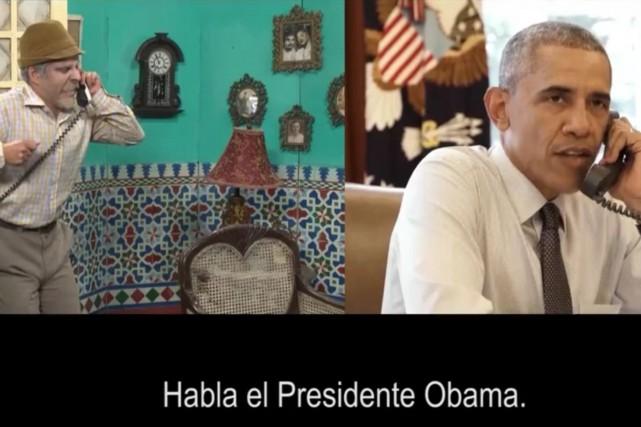 Sur cette image tirée d'une vidéo publiée par... (photo ambassade américaine à Cuba via AFP)