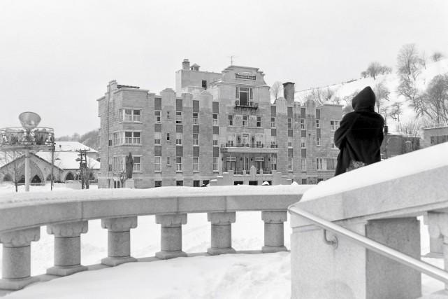 Il avait du panache, l'hôpital de Sainte-Anne-de-Beaupré, sur cette photo de... (Photo © Jocelyn Paquet, Les Archives du Photographe Numéro : PHMO-DSC11070)