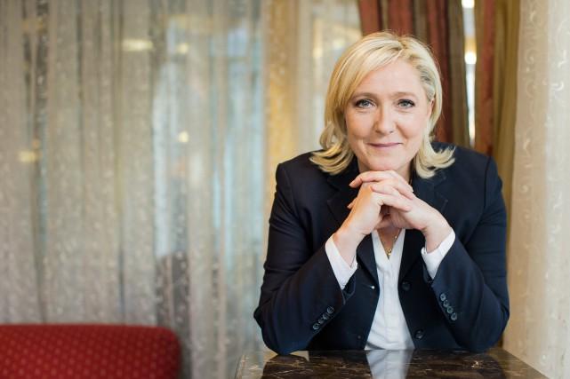La dirigeante du Front national-parti d'extrême droite français-Marine... (PHOTO EDOUARD PLANTE-FRÉCHETTE, LA PRESSE)