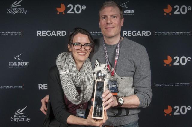 La scénariste chloé Cinq-mars et le réalisateur david... (Photo Le Progrès-Dimanche, Michel Tremblay)