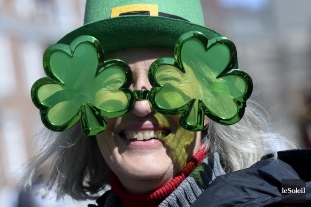 Le 8eDéfilé de la Saint-Patrick de Québec s'est mis en branle dès... (Photothèque Le Soleil)