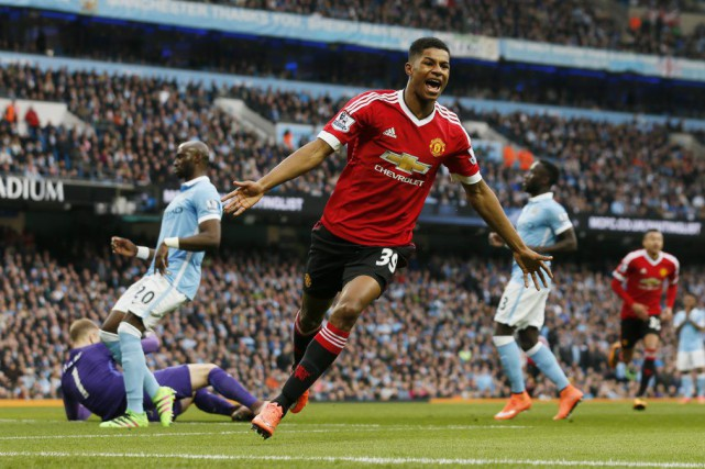 Marcus Rashford a permis aux Red Devils de vaincre... (PHOTO JASON CAIRNDUFF, REUTERS)