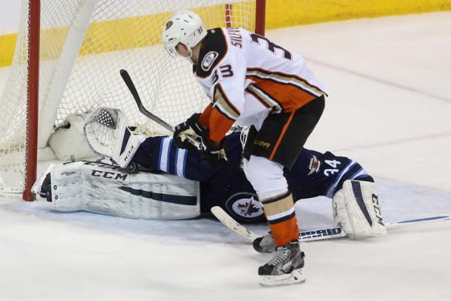 Jakob Silfverberg a marqué en prolongation et les Ducks d'Anaheim l'ont emporté... (PHOTO PC)
