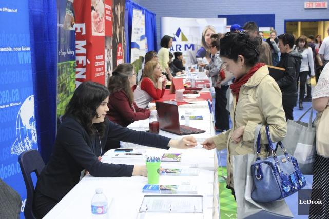 L'événement a accueilli une trentaine d'employeurs ayant 783... (Martin Brunette, LeDroit)