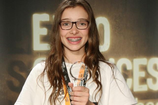 Félicia Harvey, élève de deuxième secondaire de L'Odyssée... (Photo courtoisie, René Bouchard)