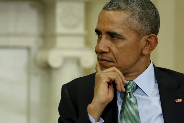Malgré les critiques, le président américain Barack Obama... (PHOTO JONATHAN ERNST, ARCHIVES REUTERS)