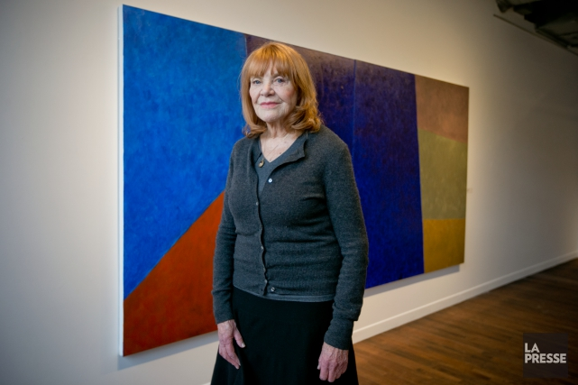 La peintre Françoise Sullivan, signataire de Refus global,devant... (PHOTO DAVID BOILY, LA PRESSE)