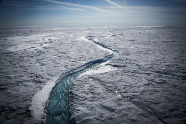 Dans l'Arctique, «l'étendue des glaces de mer a... (PHOTO JOSH HANER, THE NEW YORK TIMES)