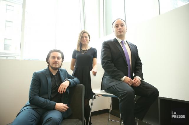 Guillaume Thérien,Jessica Drolet et Sébastien Barangé font partie... (Photo Martin Chamberland, La Presse)
