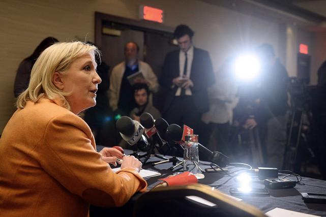 La leader française d'extrême droite Marine Le Pen,... (PC, Jacques Boissinot)