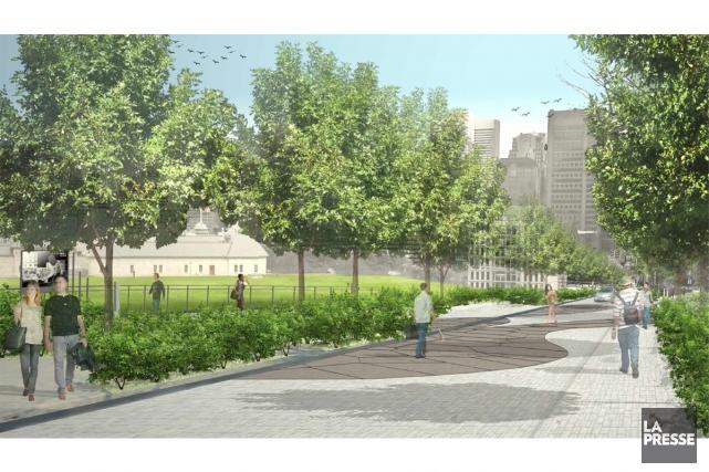 L'oeuvre sélectionnée par la BAAM sera installée rue... (IMAGE TIRÉE DU SITE DE LA VILLE DE MONTRÉAL)