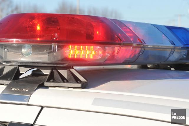 Une poursuite policière a eu lieu lundi après-midi... (PHOTO ARCHIVES LA PRESSE)