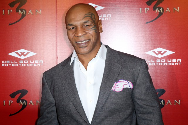 Mike Tyson à la première d'Ip Man 3... (PHOTO ARCHIVES AP)