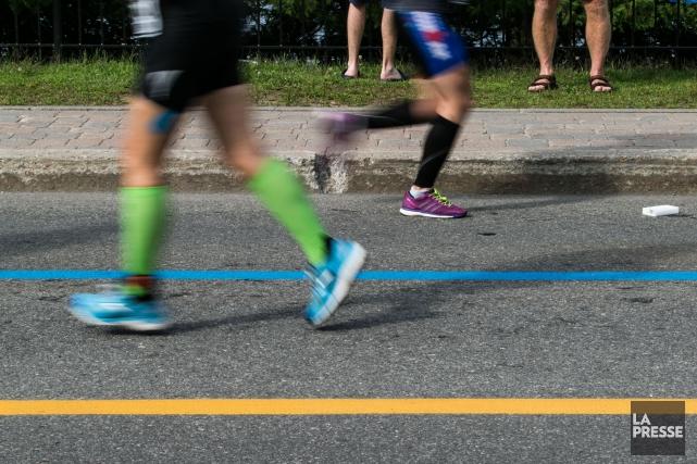 Une course de cinq kilomètres durant laquelle les participants ne perdront pas... (Archives La Presse)