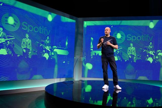 Le directeur exécutif de Spotify, Daniel Ek... (AFP)