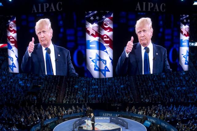 Donald Trump s'est exprimé dans la soirée devant... (PHOTO AFP)
