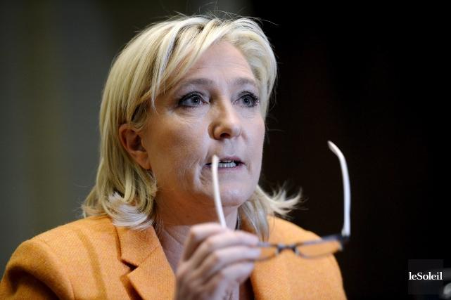 La leader française d'extrême droite Marine Le Pen,... (Photothèque Le Soleil, Erick Labbé)