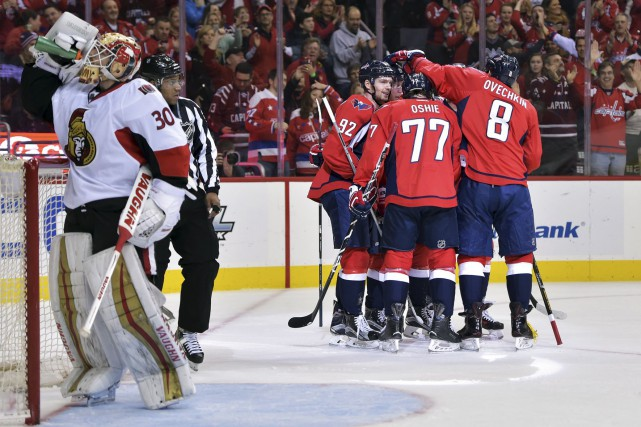 Les Capitals n'avaient pas fait de quartier lors... (Archives, Associated Press)