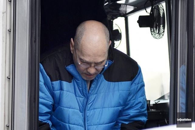 Luc Hamel est arrivé de la prison de... (Photo Le Quotidien, Jeannot Lévesque)