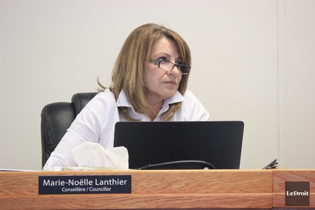La conseillère Marie-Noëlle Lanthier.... (Martin Brunette, LeDroit)
