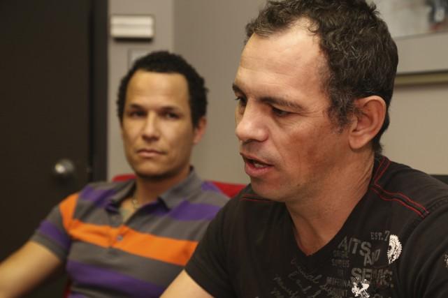 Diuval Capdevila et Ariel Rodriguez portent un regard... (photo Janick Marois)