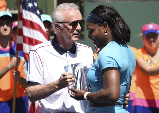 Le directeur du tournoi d'Indian Wells, Raymond Moore,... (AFP, Robyn Beck)