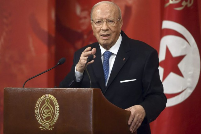Le chef de l'État tunisien Béji Caïd Essebsi.... (Photo Fethi Belaid, Agence France-Presse)