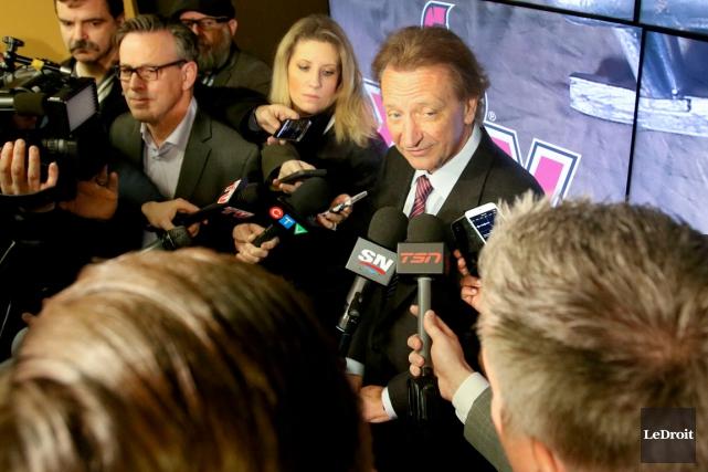 Le propriétaire des Sénateurs d'Ottawa, Eugene Melnyk, s'est... (Photo Patrick Woodbury, Le Droit)