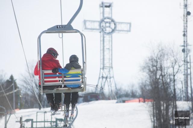 La Ville de Sherbrooke y implantera un remonte-pente quadruple au cours des... (Archives La Tribune, Julien Chamberland)
