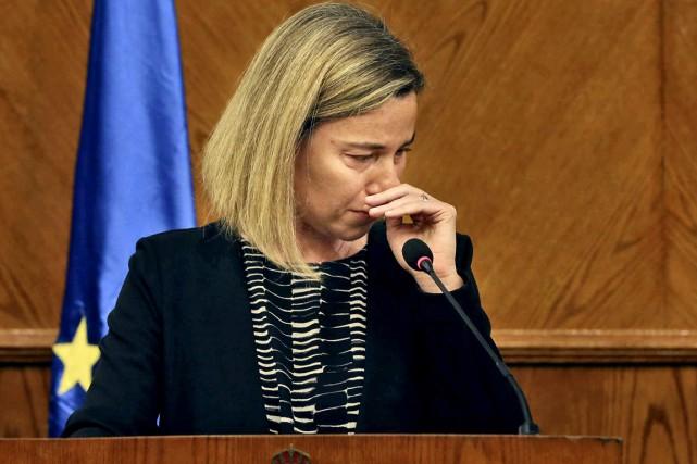 Fondant en larmes alors qu'elle évoquait «un jour... (PHOTO AP)