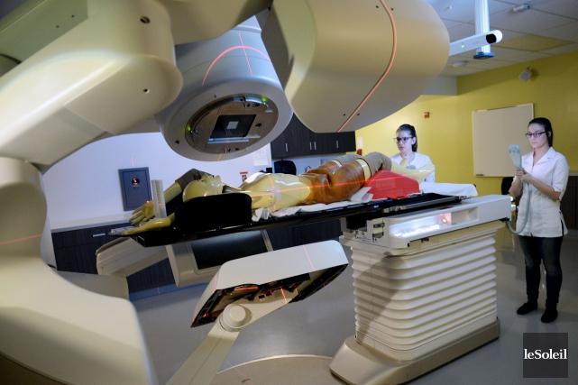 Le laboratoire de radio-oncologie du Cégep de Sainte-Foy... (Le Soleil, Erick Labbé)