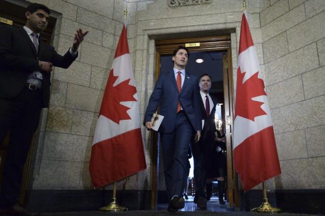 Le gouvernement libéral de Justin Trudeau jouait sa... (Sean Kilpatrick, PC)