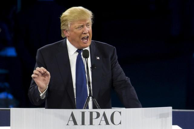 Le flamboyant Donald Trump a trouvé le moyen... (AP)