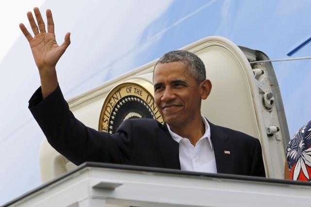 Barack Obama a quitté Cuba peuaprès 16h pour... (AP, Pablo Martinez Monsivais)
