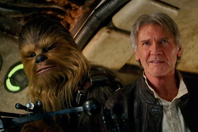 Harrison Ford dans le rôle de Han Solo... (PHOTO FOURNIE PAR LUCASFILM)