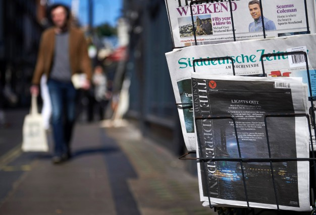 Le quotidien britannique The Independent, vendu dans ce... (PHOTO AFP)