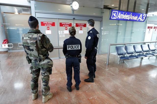 Le plan de sécurité mis en place pour... (PHOTO VALERY HACHE, AGENCE FRANCE-PRESSE)