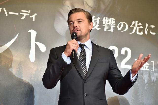 Leonardo DiCaprio était à Tokyo hier afin d'assister... (PHOTO AFP)