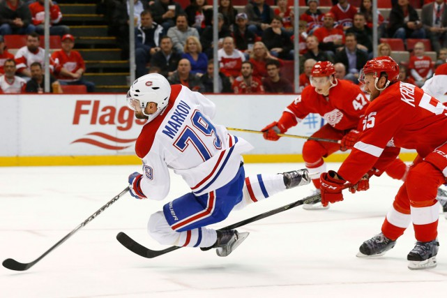Andrei Markov et Niklas Kronwall... (Photo Paul Sancya, archives AP)