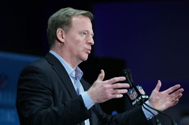 Le commissaire de la NFL, Roger Goodell.... (Photo Luis M. Alvarez, AP)