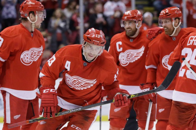 Les Red Wings de Detroit se retrouvent présentement... (Photo Carlos Osorio, AP)