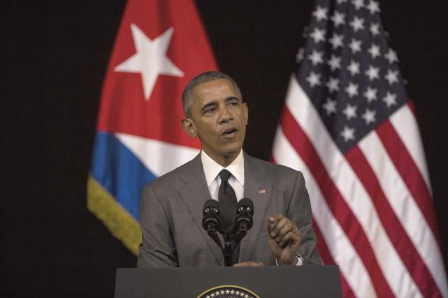 En devant le premier président américain depuis 1928... (AP, Desmond Boylan)