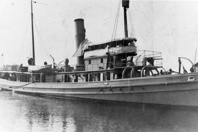 L'épave de l'USS Conestogaa été retrouvée près du... (AP, U.S. Naval History and Heritage Command)