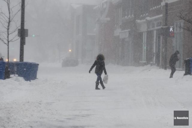 Une tempête hivernale est attendue jeudi après-midi dans... (Sylvain Mayer, Le Nouvelliste)