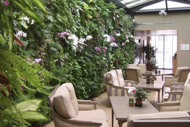 Ce mur végétal intérieur donne un exemple de... (bynaturedesign.ca)